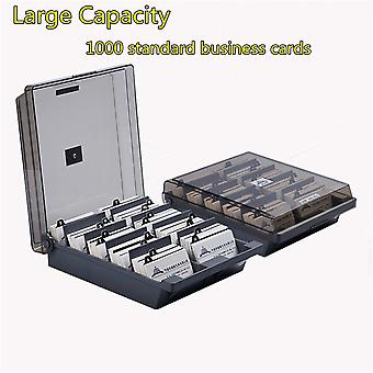 Jielisi 868 extra large capacity business card storage box business card holder name card wallet organizer