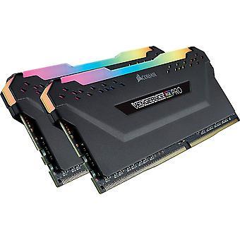 Kit de mémoire Corsair Vengeance RGB Pro 16Gb (2 x 8GB), DDR4, 3000MHz (PC4-24000), CL15, XMP 2.0, Noir