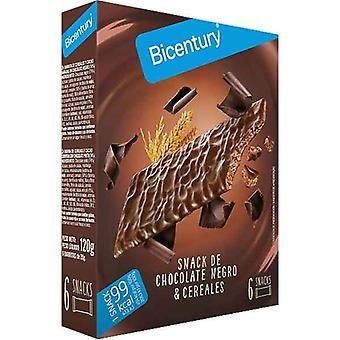 Energy bar Bicentury Snack Chocolate Negro Cereals (6 uds)
