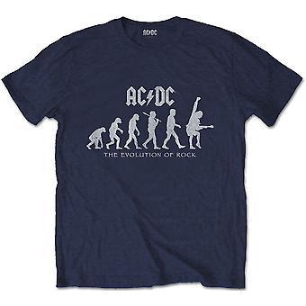 AC/DC - Evolución de Rock Unisex X-Large Camiseta - Azul