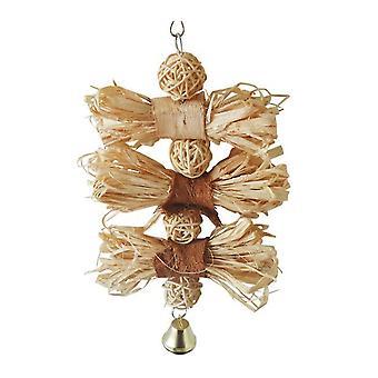 Jouet d'oiseau de perroquet Lafite Loofah Rattan Ball Toy