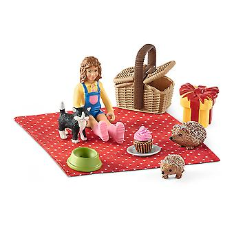 Schleich Farm World Birthday Picnic Toy Playset