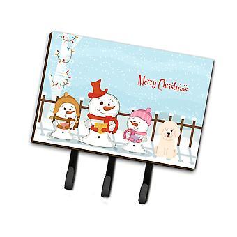 Caroline'S Treasures Christmas Carolers Merry Bichon Frise Leash Or Key Holder Bb2406Th68, Triple