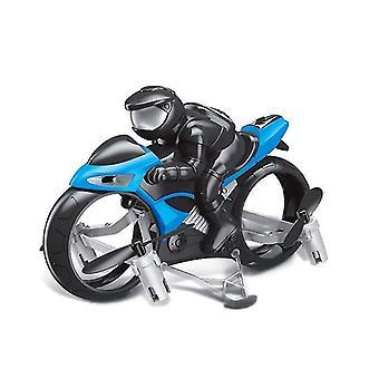 Land Air Fly Kids Moottoripyörä Päätön Tila Kaukosäädin Neliakselinen Drone Racing Stunt Lelu (Sininen)