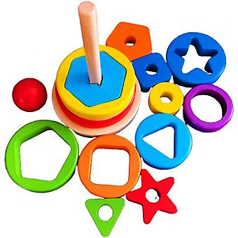 Children's Wooden Montessori Kids Toys,shape And Color Recognition