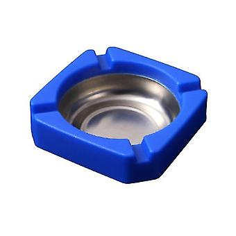 Household Stainless Steel Living Room Ashtray Wear Resistant Drop Resistant Ashtray Multifunctional
