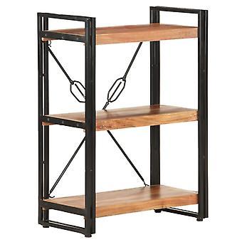 vidaXL bibliothèque 3 compartiments 60x30x80 cm acacia bois massif