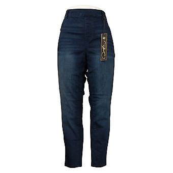 DG2 di Diane Gilman Donna Petite Jeans Denim 5-Pocket Jegging Blue 718711