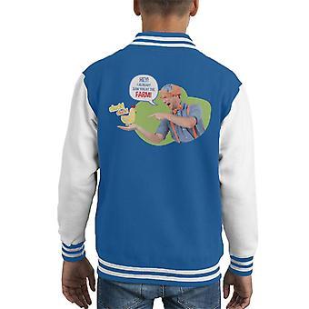 Blippi Hey I Already Saw You At The Farm Kid's Varsity Jacket