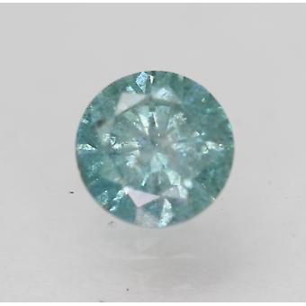 Cert 0.55 Ct Sky Blue SI2 Round Brilhante Enhanced Natural Loose Diamond 5.19mm