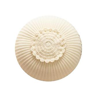 Knitted Circular Children's Toy Pillow Model Room Decorative Cushion(White)