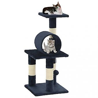 Chunhelife Cat Tree With Sisal Scratching Posts 65 Cm Dark Blue