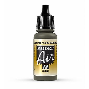 Vallejo Model Air 20 Green Brown - 17ml Acrylic Airbrush Paint