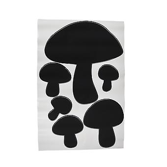 Children`s Chalkals Mushrooms Chalkboard Wall Decals