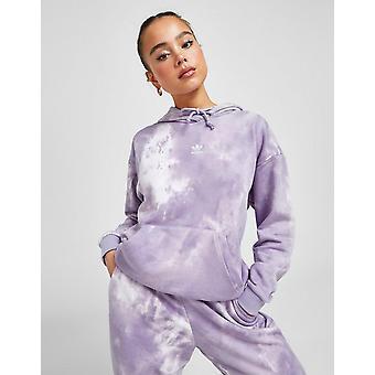 New adidas Originals Women's Tie Dye Boyfriend Hoodie Purple