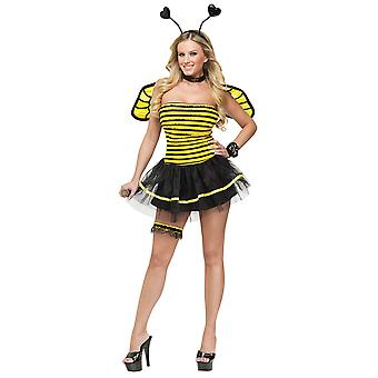 Fantasy Busy Bee Honey Bumblebee Insect Fairy Fairytale Women Costume
