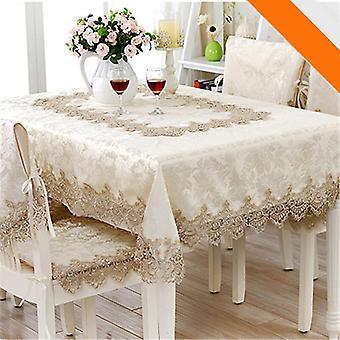 Klassiek rond tafelkleed voor tafel decor kant elegante tafel doek