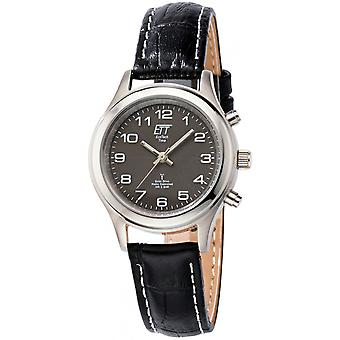 ONE (Eco Tech Time) Black Genuine Leather ELS-11331-51L Women's Watch