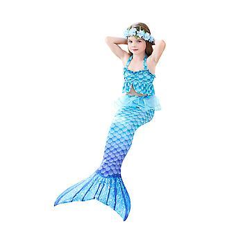 Havfrue til svømning Piger Bikini Sæt Badedragt Swimmable Costume