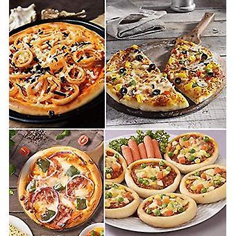 2-pack Rond Pizza Baking Pan, Antiadhésif, Pour Four à Pizza, Grills Et Accessoires de Cuisine - 22.9cm, 28cm, Noir