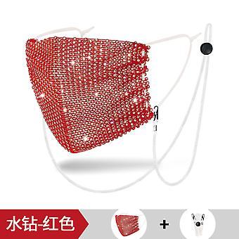 Sunscreen Face Mask Color Fashion Lanyard Rhinestone Mask