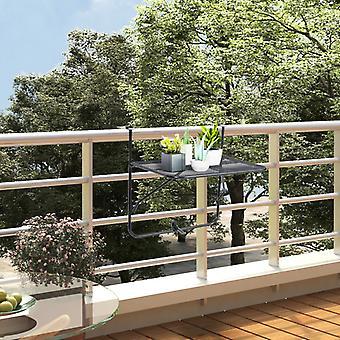 Chunhelife Balcon Table Noir 60x40 Cm Acier