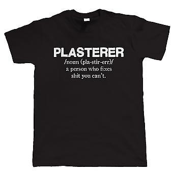 Plasterer, Mens Funny T Shirt