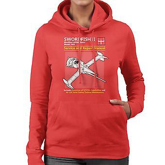 Cowboy Bebop Swordfish Service And Repair Manual Women's Hooded Sweatshirt