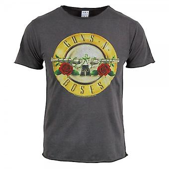 Amplified Mens Vintage Guns N Roses Drum T Shirt, Char Wash