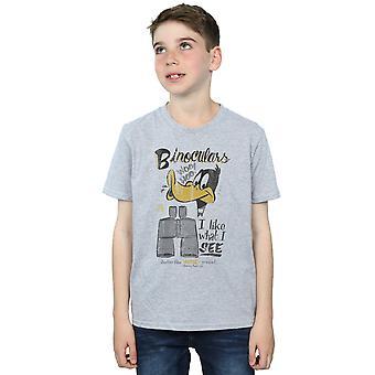Looney Tunes Boys Daffy Duck Binoculars T-Shirt