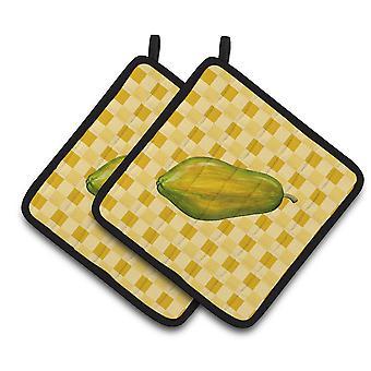 Carolines tesoros BB7241PTHD Papaya entera en usa par de agarraderas