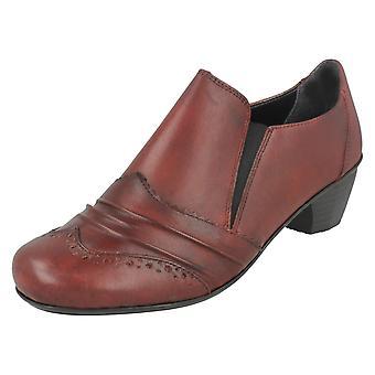 Rieker señoras tacón zapatos Brogue detallando 41730