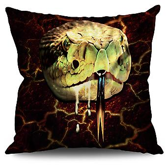 Snake Beast Wild Linen Cushion 30cm x 30cm | Wellcoda