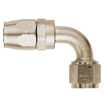 Aeroquip FCE4032 Nickel-Plated Aluminum -06AN Hose to Female -06AN 90-Degree Hose End Fitting