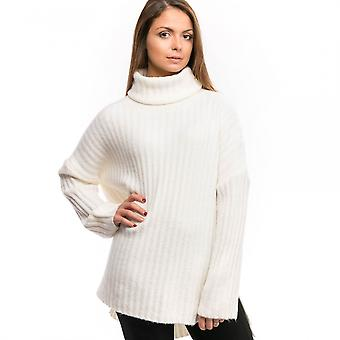 French Connection French Connection Riva Rib Knit LS High Neck Womens Jumper