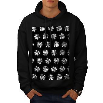 Sneeuwvlok leuke kerst mannen BlackHoodie | Wellcoda