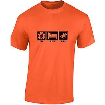 Comer dormir passeio cavalo equestre crianças Unisex t-shirt 8 cores (XS-XL) por swagwear