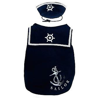 Pet Brands Happy Puppy Sailor Dog Top With Hat
