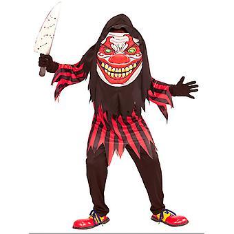 Horror klovn Big Head kostume