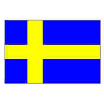 Zweden/Zweedse vlag 5 ft x 3 ft (100% Polyester) met oogjes