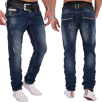 Hommes un Public détruit stretch Jeans Vintage Slim Denim Fit