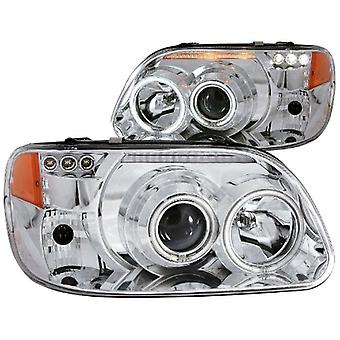 Anzo USA 111133 Ford Explorer Projector 1 Pc Chrome Clear Amber Headlight Assembly - (Sold in Pairs)