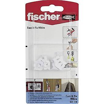 Fischer gancho de pared rápido y fijar blanco K 8 ud(s)