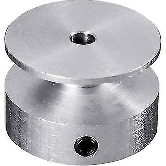 Rola curea din aluminiu reely: 3,2 mm Diametru: 20 mm