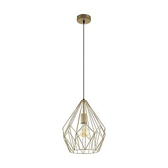 EGLO Carlton оранжевый золотой проволоки геометрические подвеска свет