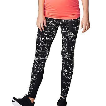 Noppies 66508-C270 Women's Fae Black Motif Maternity Sports Pant