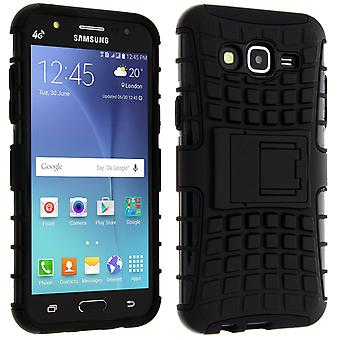 Schokbestendige Stand geval Backcover voor de Samsung Galaxy J5 & Kickstand - zwart