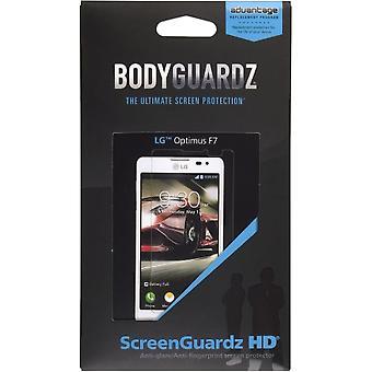 BodyGuardz - LG Optimus F7 için ScreenGuardz HD Kuru Yükleme