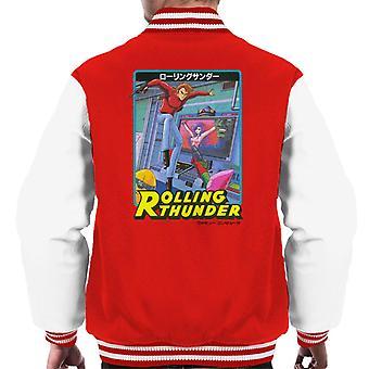 Rolling Thunder Manga Artwork Men's Varsity Jacket