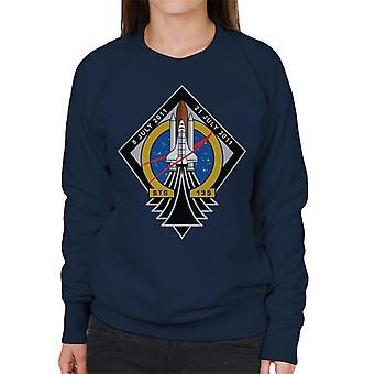 NASA STS 135 Space Shuttle Atlantis Mission Patch Women's Sweatshirt